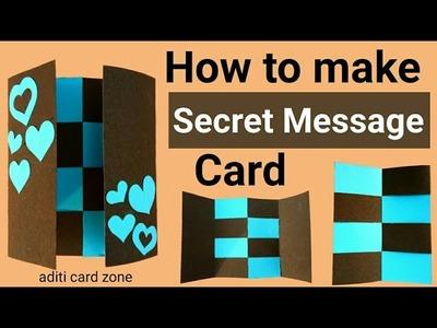 Secret message card making | Message card tutorial | Secret message card diy | handmade gifts |