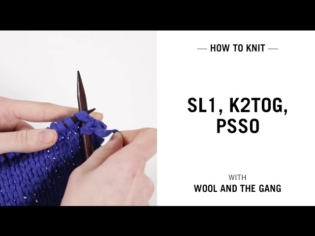 Knitting Yfwd Psso : Sl k tog psso my crafts and diy projects