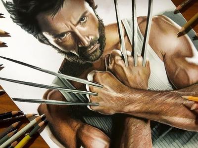 Speed Drawing: Hugh Jackman as Wolverine   Jasmina Susak