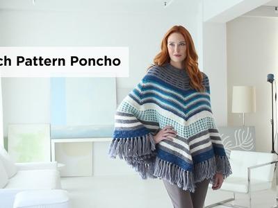 Stitch Pattern Poncho made with New Basic 175