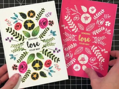 [Technique Tuesday] Pattern Stamping and Coloring Outside of the Lines with Channin