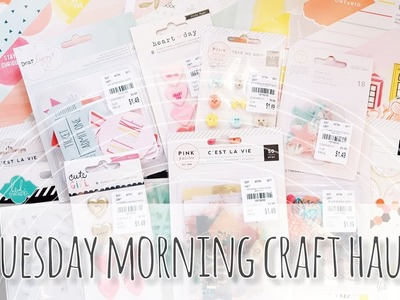 Tuesday Morning Craft Haul | Pink Paislee, Dear Lizzy & More!