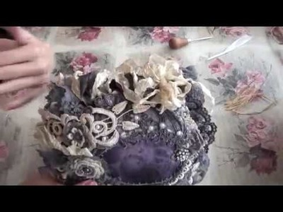 Tutorial - Shabby rustic flower embellishment