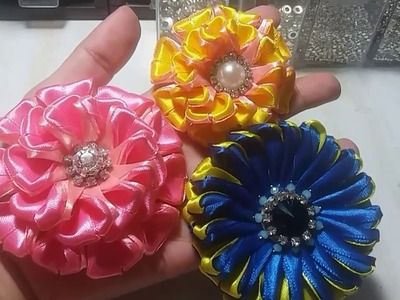 21) Tutorial Lovely Zinnia. Kanzashi flower
