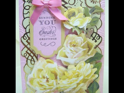 300!! Cardmaking Project: Anna Griffin Floral Easter Rose Card