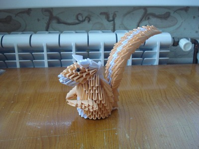 3D Origami Squirrel Tutorial - Part 2