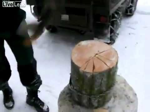 A quick way to chop wood