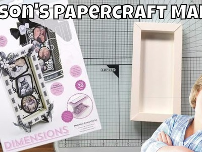 Alison's Papercraft Makes - Basic Shadowbox Frame