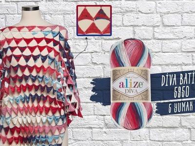 Alize Diva Batikle Pareo - Pareo with Alize Diva Batik