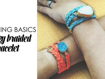 Beading Basics Druzy Braided Bracelet