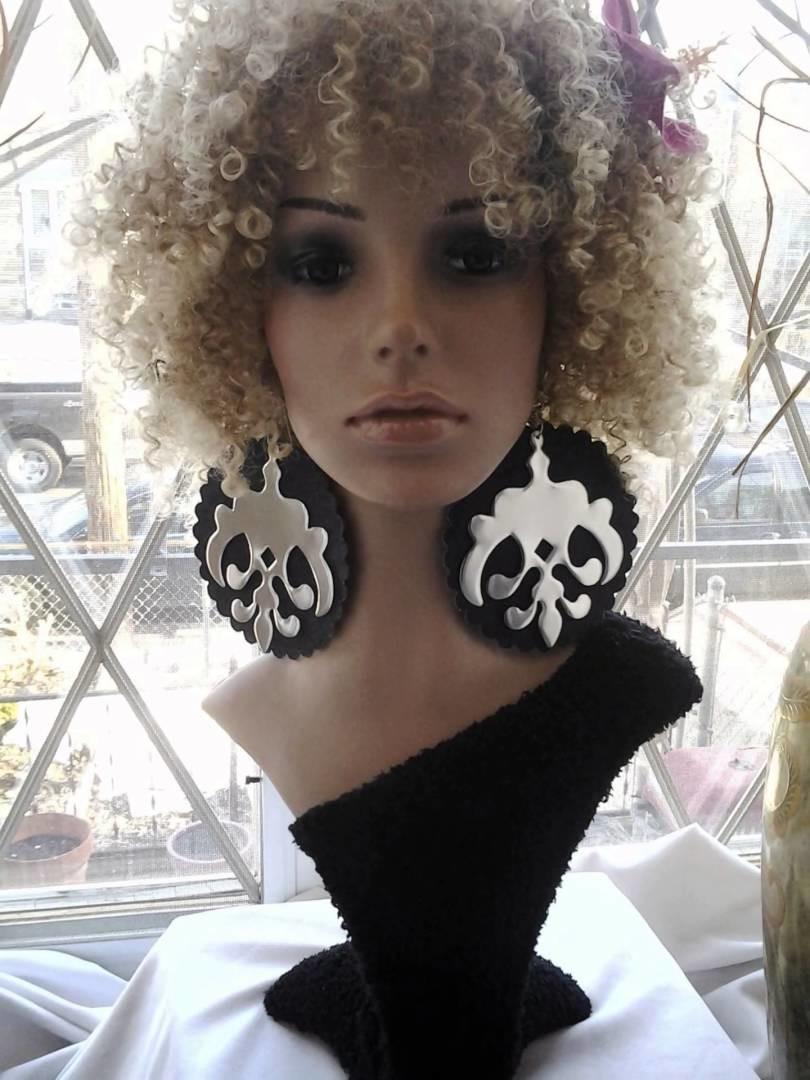 Big Earrings, Large Earrings, Fashion Earrings By: Dimensional Vision Etsy Shop . com