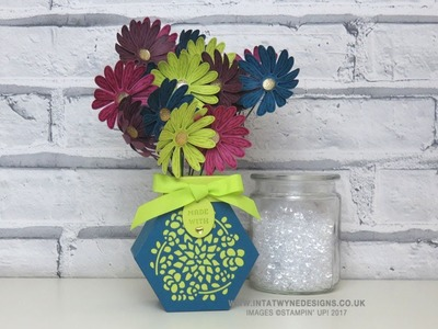 Birthday Extravaganza - Window Box Vase With Daisy Delight Flowers