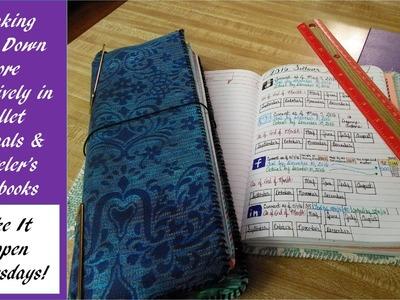 Bullet Journal & Traveler's Notebook Goal Tracking