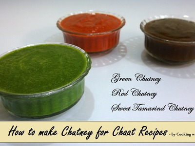 Chutney Recipe for Chaat (Bhel Puri. Sev Puri) in Hindi by Cooking with Smita