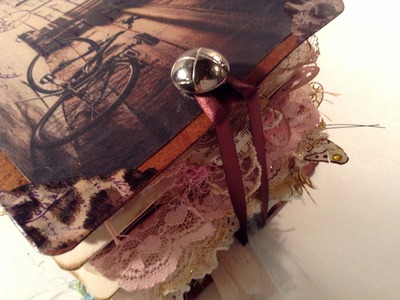 """""""Close to the Heart"""" Junk Journal cover and knob closure tutorial"""