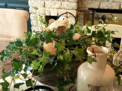 COFFEE TABLE DECORATING IDEAS - URBAN FARMHOUSE.RUSTIC GLAM DECOR
