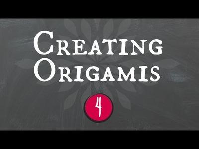 Creating origamis.criando origamis(Part 4: Origami Kusudama)