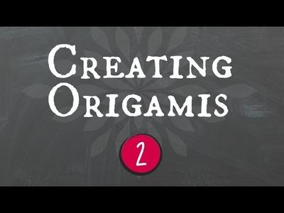 Creating origamis. criando origamis (Part 2. Origami Spider.aranha)