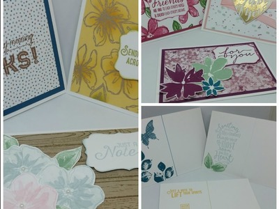 Cute Post Card Style Note Cards Using Stampin Up!