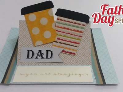 DIY#5: How to make a Coffee Themed stand up fold card with a surprise hidden message