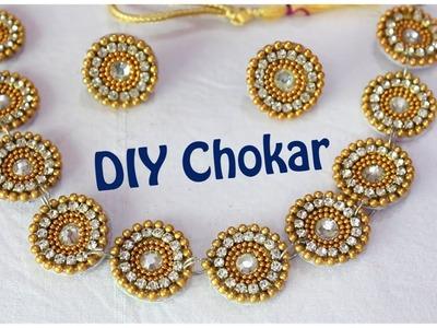 DIY Bridal Chokar I How to make partywear chokar at home I No Silk thread I Creative Diaries