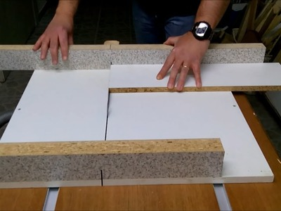 DIY homemade guide rails and cross - cut sled how to Simply Make it