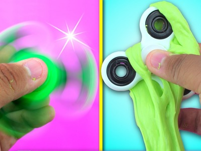 ????DIY SLIME FIDGET SPINNER THAT ACTUALLY WORKS !!! HOW TO MAKE A FIDGET SPINNER OUT OF SLIME !! ????????