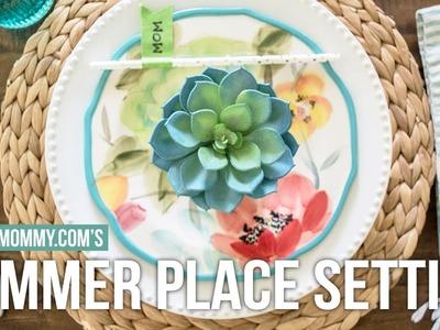 DIY Summer Place Setting Idea with Finish Quantum