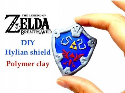 DIY The Legend of Zelda Hylian Shield - Polymer clay tutorial. Collab Dolly Mac Lay