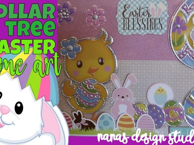 ???????????? Dollar Tree Framed Art: Easter Framed Art - Do-it-Yourself with Dollar Tree Stickers
