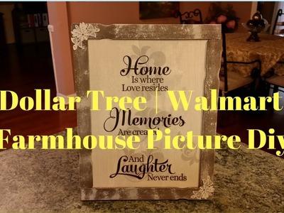Dollar Tree   Walmart Farmhouse Picture DIY