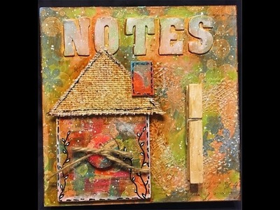 #DollarStoreArtChallenge - Mixed Media Canvas + Chance to Win a Prize