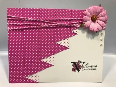Drapery Fold Card with a Twist