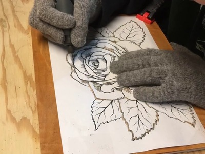 Dremel Wood Carving - Flower