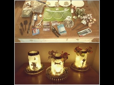 DT Tutorial on how to make cute glittery lighted jars.WARNING 1st timer w. some humor :)