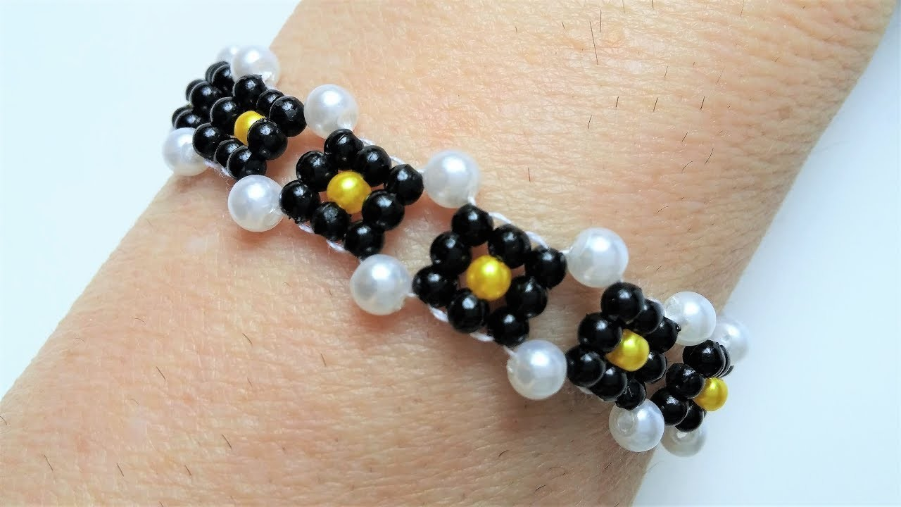 Easy Beading Pattern How To Make A Bracelet Beginners Diy