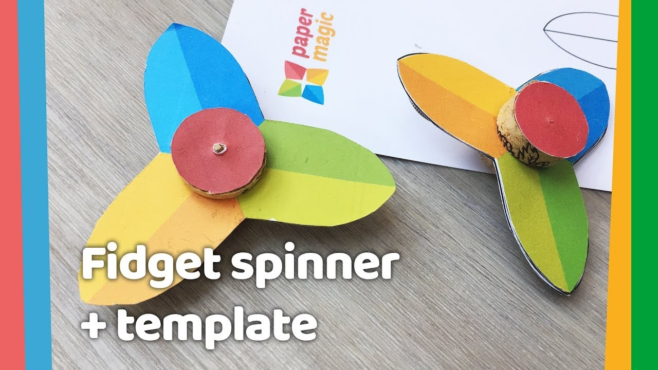 Easy Diy Paper Fidget Spinner For Kids To Do At Home Template No