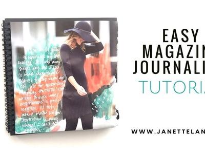 Easy Magazine Journaling Layout Tutorial