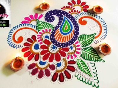 Easy rangoli for all occasion | Art with Creativity