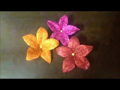 Easy way to make GLITTER FOAM FLOWERS - Home Decor