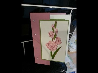 """Fun fold card in a card using """"gift of love"""" stampin up"""