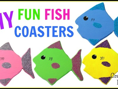 Fun Glitter Fish Coasters DIY ~ Another Coaster Friday ~ Craft Klatch