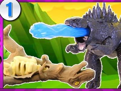 Godzilla's DINOSAUR FIGHT CLUB | Atomic Roar Godzilla Toy Review | Dinosaur Videos for Kids #1