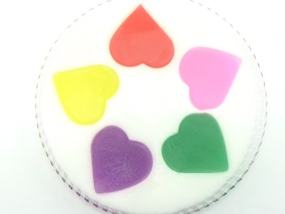 Heart Color Jelly How To Make Mixing Watercolor And Jelly Surprise
