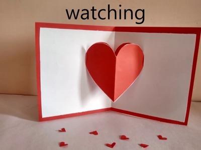Heart pop-up card by Zainab