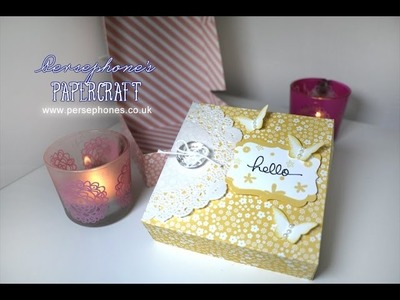 Hello Lace Doilies Box   Stampin' Up (UK) with Persephone's Papercraft