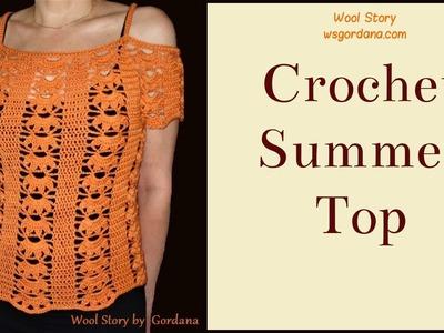 How to crochet a Summer Top (Heklana bluza)