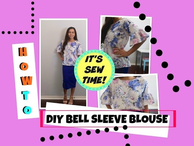 HOW TO DIY BELL SLEEVE TOP, EASY SEWING PROJECT