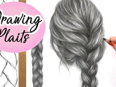 How To Draw A Plait. Braid: Hair Drawing Tutorial | Step by Step