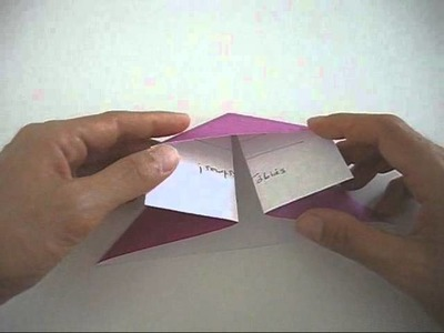 How to fold a square envelope origami style